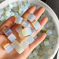 Natural square opal Tumbled Stones Crystals and minerals Aquarium flowerpot decoration