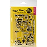 Waffle Flower Crafts 271088 Clear Stamps 4''X6''-Hey Girl