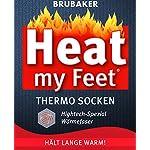 BRUBAKER Chaussettes thermiques 'Heat my Feet' - Lot de 2 Paires - Ultra chaudes et confortables - Unisexe 7