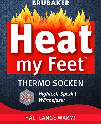 BRUBAKER Chaussettes thermiques 'Heat my Feet' - Lot de 2 Paires - Ultra chaudes et confortables - Unisexe 2