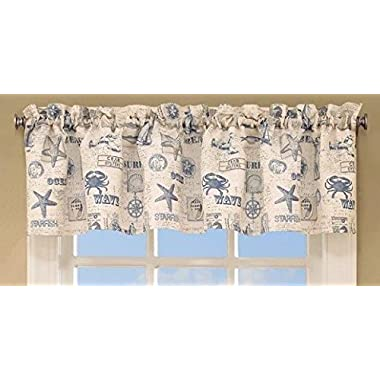 By The Sea Valance 60Wx12L, Blue