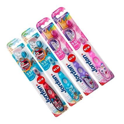 Jordan Step 2 Top cepillo de dientes para niño 3 – 5 años – con ventosa