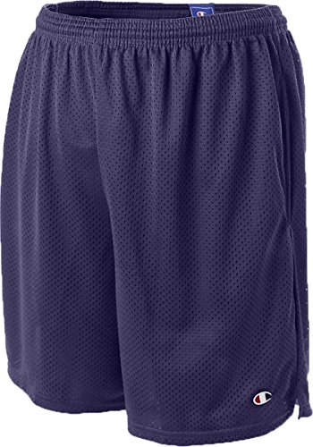 Champion 3.7 oz. Mesh Short with Pockets, XL, NAVY