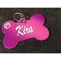 Medaglietta per cane o gatto a forma di osso, InciSo, 6 colori disponibili, con incisione gratuita entrambi i lati