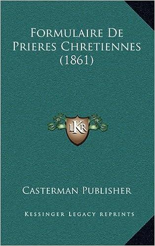 Book Formulaire de Prieres Chretiennes (1861)