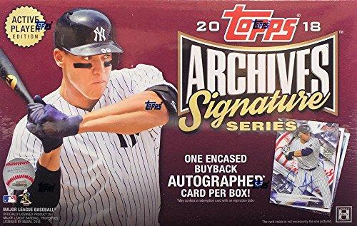 2018 Topps Archives Signature Series Active Player Edition MLB Baseball box (1 card) -