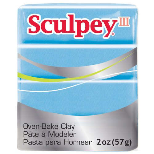 Sculpey III Polymer Clay 2 Ounces-Light Blue (Light Blue Type)