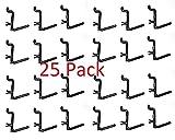 Plastic Black L Style Peg Board Hook Kit - 25