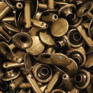 Abbeytops Remaches de tapa individual 6 x 5 7 x 7 9 x 8 y 9 x 12 Stud Rapid Remaches de piel Craft Reparaci/ón