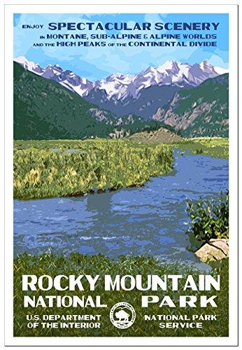 Rocky Mountain National Park Poster -- Moraine Park -- Original Artwork - 13