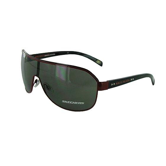 Skechers Mens SK 8004 Fashion Aviator Sunglasses, Black