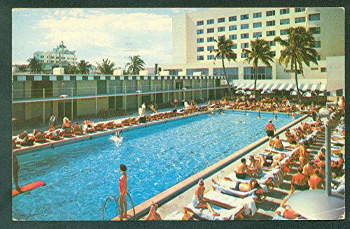 Beautiful Di Lido Hotel Swimming Pool and Cabana Club MIAMI FLORIDA FL Postcard ()