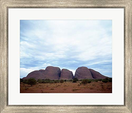 - Rock Formations on a Landscape, Olgas, Uluru-Kata Tjuta National Park, Northern Territory, Australia Framed Art Print Wall Picture, Silver Scoop Frame, 28 x 24 inches