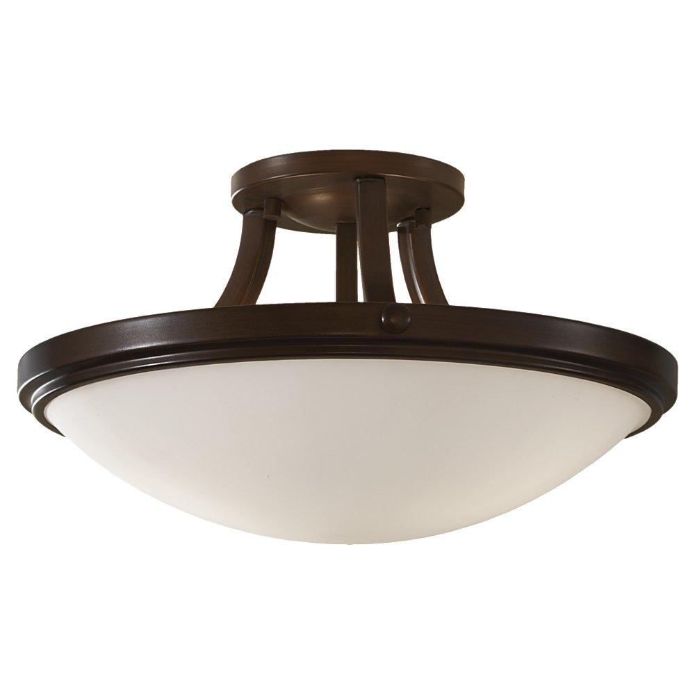 feiss sf283htbz perry 2 light indoor semi flush mount heritage bronze close to ceiling light fixtures amazoncom
