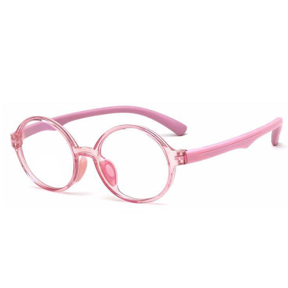 C4 Fantia Childrens Glasses Frame Round Tr90 Silicone Eyeglasses Clear Lens