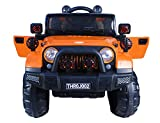 Toyhouse Off Roader Jeep Rechargeable Battery Operated Ride-on for Kids, Orange