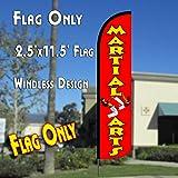 Cheap MARTIAL ARTS Windless Polyknit Feather Flag (11 x 2.5 feet)