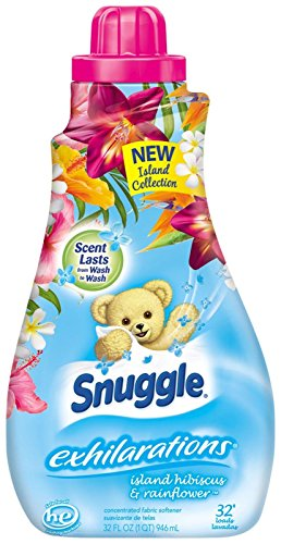 Snuggle Exhilarations Concentrated Fabric Softener Liquid - Island Hibiscus & Rainflower - 32 oz