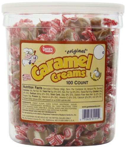 Goetze's Caramel Creams Candy Tub, 100 Count