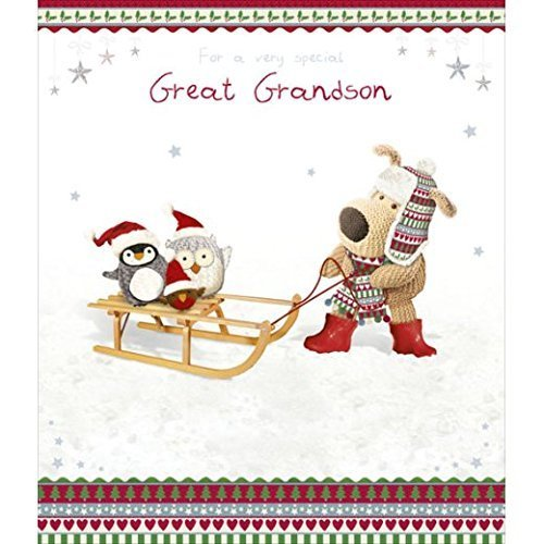 Boofle Great Grandson Christmas Card Lovely Special Xmas Greeting Cards (Christmas Boofle)