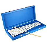 Tera Mini instrumento musical de 15 tonos de teclas de material de aluminio, juguete para niños, caja azul, Xilófono,bebé