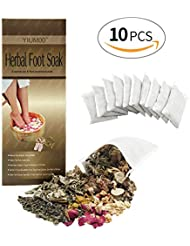 Foot Soak with Tea Tree Herbs Rich Natural Essential Oils Helps Soak Away Athletes Foot Toenail Fungus Stubborn Foot Odor Scent Anti-Fungal Softens Calluses & Soothes Sore Tired Feet Improve Sleep