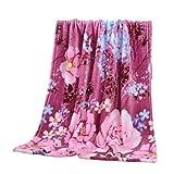 Flannel Fleece Throw Blanket for Sofa Couch - Super Soft Warm Micro Plush Fleece Blanket Decorative Throw Rug Sofa Bedding, 70x100cm (A)