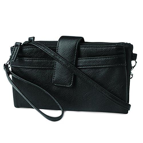 MUNDI Convertible Womens Wristlet Crossbody Bag With RFID Blocking and Smart Phone Holder