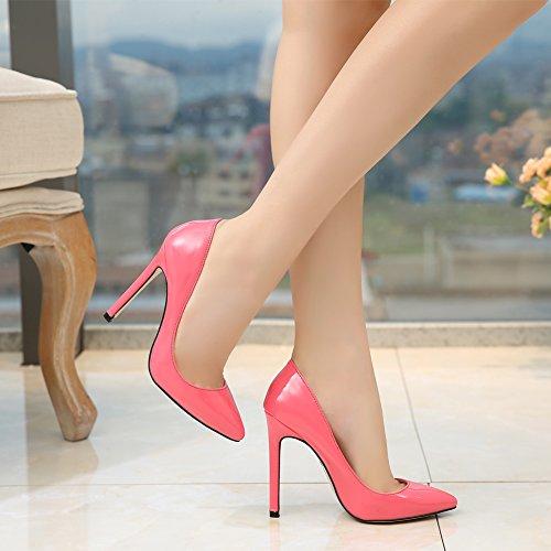 Pumps Toe Peach Pointy New Dress Women's Red On High Heels Slip Stilettos fereshte zTqwg1