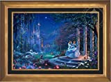 Disney Cinderella Dancing in the Starlight - Thomas Kinkade 24'' x 36'' Standard Number (S/N) Limited Edition Canvas (Aurora Gold)