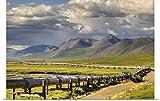 Lucas Payne Poster Print entitled Semi truck driving the Haul Road along the Trans Alaska Oil Pipeline, Arctic Alaska