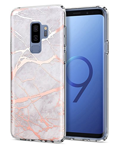 Mother's Day Gifts Deals Sale 2018 Galaxy S9 Plus Case, [Marble Series]Slim Anti-Scratch Luxury Fashion Soft TPU Protective Case for Samsung Galaxy S9 Plus /S9+ (White Gold A, Samsung Galaxy S9) by Valentoria