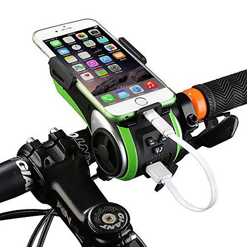 VECOO 10 in 1 Multifunction Waterproof Bluetooth Bicycle Audio Speaker Phone Mount Mobile Rack Holder for 3.5 -6