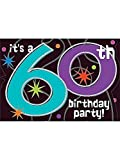 : The Party Continues 60th Birthday Invitations, 8ct