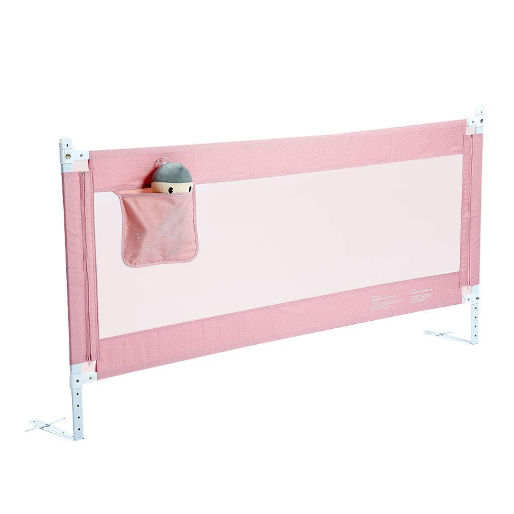 ベッドフェンス エクストラロングシングルベッドレール - 転倒防止幼児用ベッドバンパーレールガードベビーベッドサイドバッフルワンボタン垂直リフト、2色、高さ(85cm)丈夫でしっかりした 200cm(78 inch) Pink B07V6WZJWK