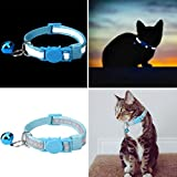 KOOLTAIL 6 Pcs Reflective Cat Collars with Bell