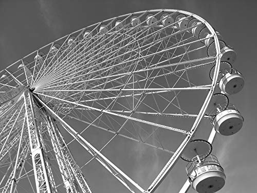 (Home Comforts Canvas Print Sky Paris Ferris Wheel Vivid Imagery Stretched Canvas 32 x 24 )