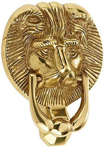 Mila 590204 ProLinea Lion Head Door Knocker - Polished Gold by Mila (Gold Door Knocker)