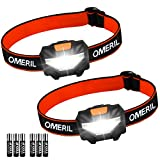 LED Head Torch, OMERIL [2 Pack] Super...