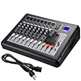 AW 8 Channel 4000 Watt Pro Powered Mixer w/ USB Slot DJ Power...