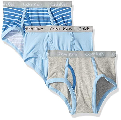 - Calvin Klein Toddler Boys' Modern Cotton Assorted Briefs Underwear, Multipack, Stripe, Blue Bell, Heather Grey, 2T