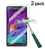 Best Galaxy Note 4 Tempered Glass Screen Protectors - TANTEK Bubble-Free Anti-Scratch Anti-Fingerprint Tempered Glass Screen Protector Review