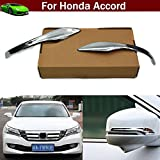 2pcs Chrome Rearview Side Mirror Cover Trim Strip Emblems For Honda Accord 2013 2014 2015 2016 2017
