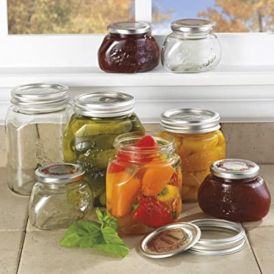 Leifheit Decorative Canning Jars, Set of 6 by Leifheit