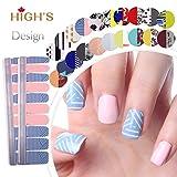HIGH'S Exclusive Design Series Manicure Nail Polish Strips Nail Wraps, Bandage Dress