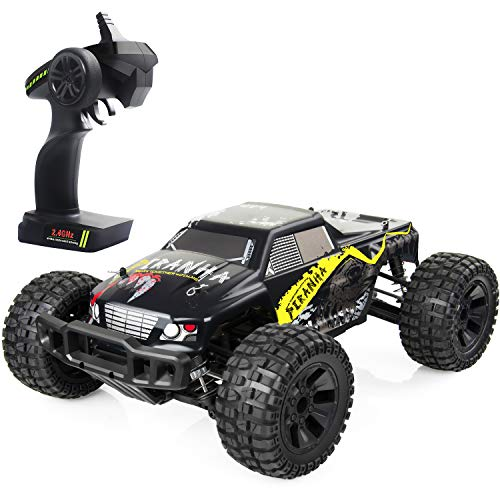VCANNY Large Size 1: 12 Scale Electric Remote Control Truck with High Speed 40km/H 4WD 2.4Ghz, Radio Controlled Off Road RC Car Electronic Monster Truck R/C RTR Hobby Grade Cross- Country Car Buggy from VCANNY