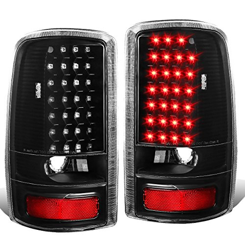 Chevy Suburban Tail Light Lens (GMC Yukon / Chevy Suburban Pair of Black Housing Clear Lens LED Brake Tail Lights)