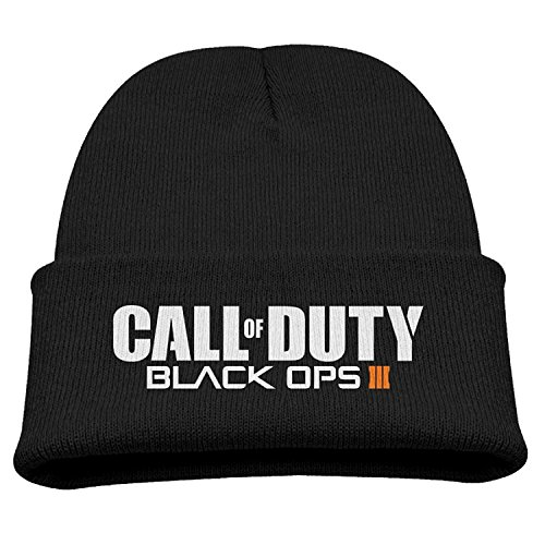 Price comparison product image Call Of Duty Black Ops Iii 3 Boy's And Girl's Hisper Winter And Fall Black Beanie Cap Knitting Hat