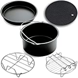 Air Fryer Accessories,for Phillips Air Fryer and Gowise Air Fryer Fit all 3.7QT-5.3QT-5.8QT ,Set of 5-7 Inch Review