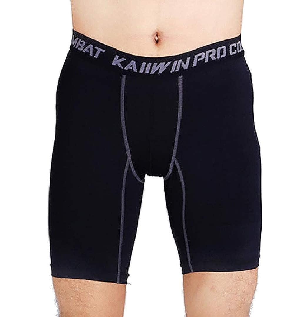Abetteric Mens Short Pants Jammer Fast Dry Stretch Baselayer Leggings Tight